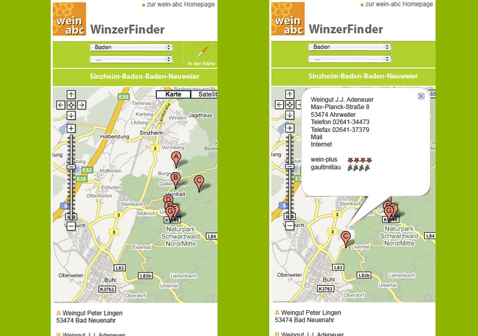 screenshot winzerfinder