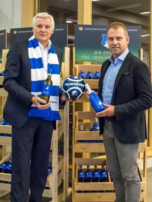 Karl Seiter und Hansi Flick stellen die Edition TSG Hoffenheim vor