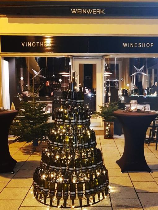Der WEINachtsbaum im Weinwerk, Bad Kissingen