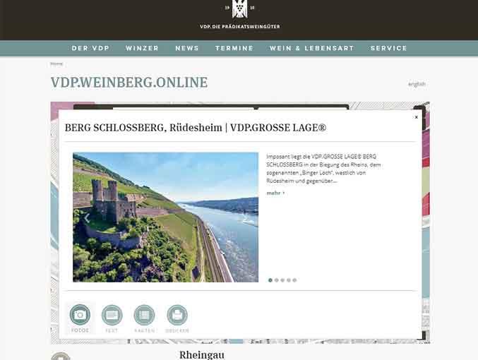 VDP.Weinberg.Online - Screenshot VDP