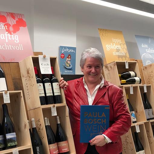 """Paula Bosch stellt ihr neues Buch """"Wein geniessen"""" vor. Foto: © Callwey Verlag 2018"""