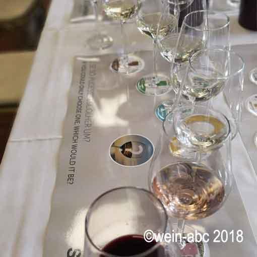 Mehr als nur Weißwein: Vinho Verde gibt es auch in Rot und Rosé! ©wein-abc 2018