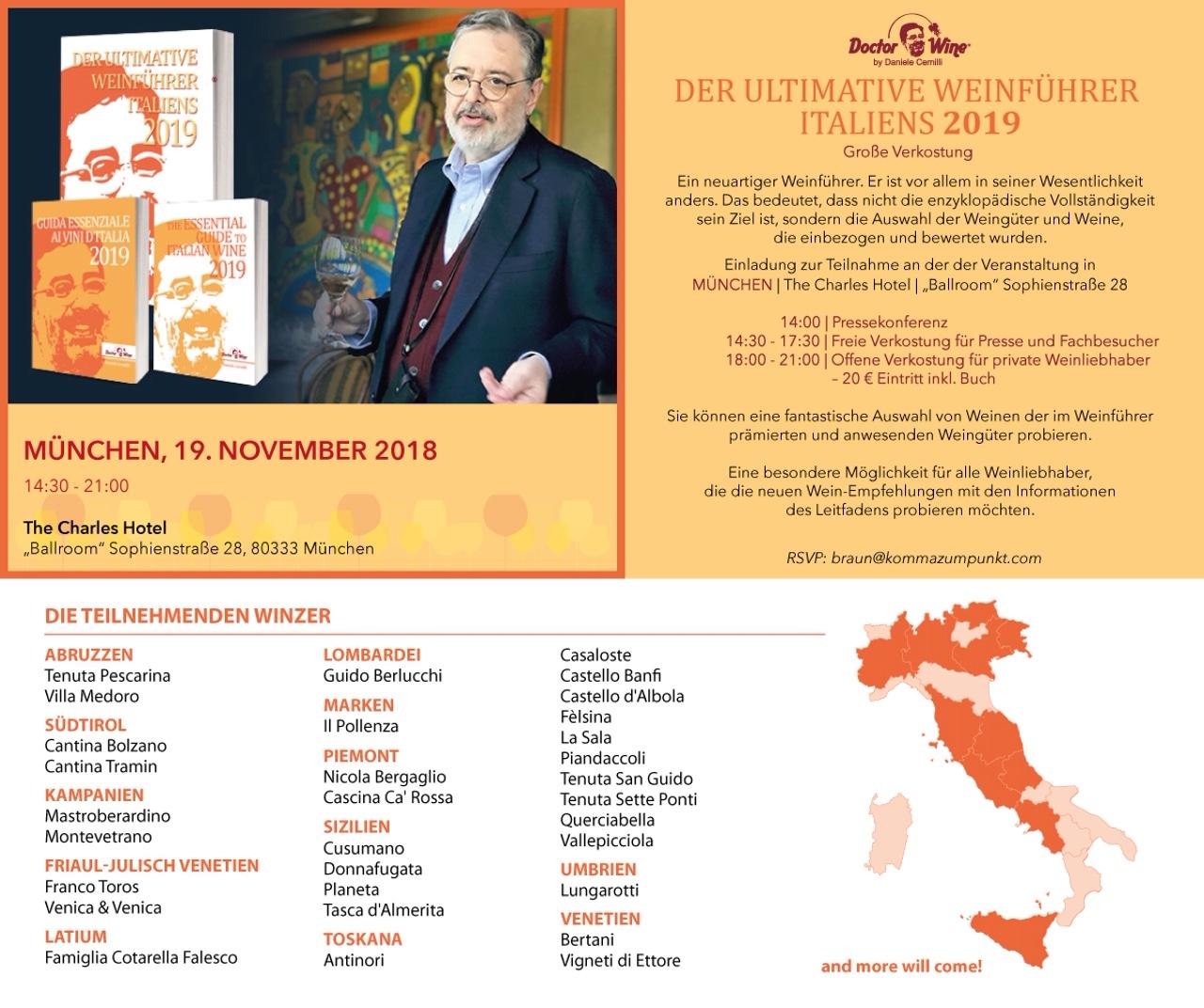 Einladung Verkostung Buchpräsentation Daniele Cernilli
